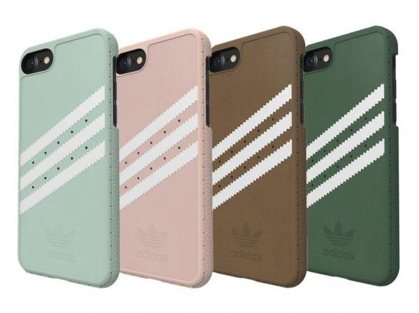 CUSTODIA PER APPLE iPHONE 7 4.7 ADIDAS ROSA CIPRIA CON LOGO BIANCO